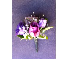 CO12 MIXED PURPLE FLOWERS CORSAGE