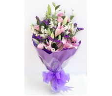 F85 TIGER LILIES WITH PURPLE MATCHING FLOWERS