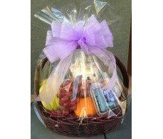 H4 ASSORTED FRUIT BASKET WITH BLUE SOFT TOY