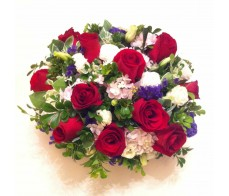 T1 12 PCS RED ROSES TABLE FLOWER IN ROUND